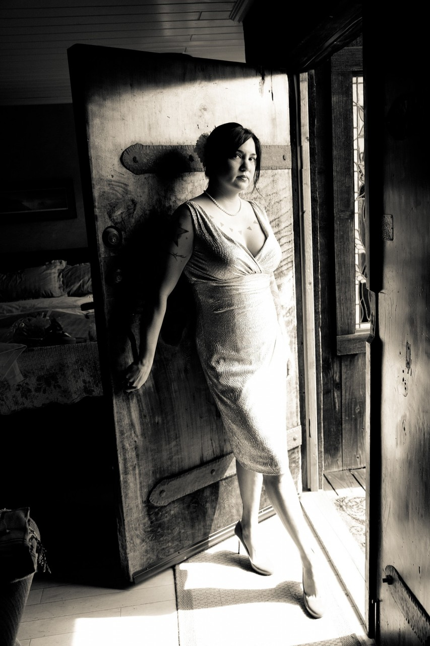 Creative Portrait of Bride, MacCallum House, Mendocino