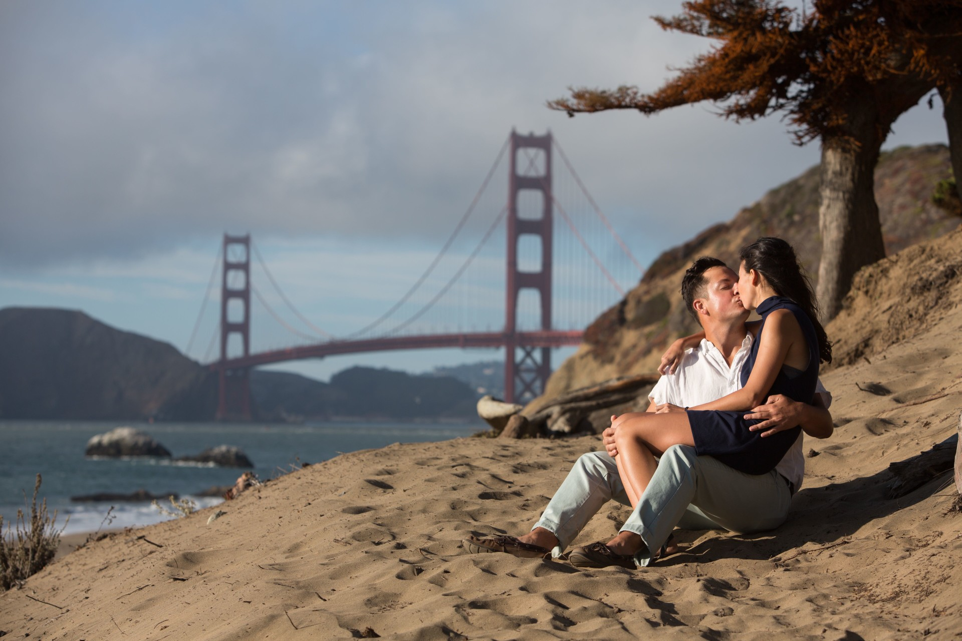 baker beach sf engagement - 17